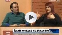 <p>Dr. Mehmet Perinçek ve Doç. Dr. Özlem Kumrular – İslam Korkusu</p>