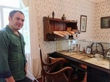 <p>Maksim Gorkiy'in 1902-1904 yılları arasında Nijniy Novgorod'da yaşadığı evdeki çalışma odası.</p>